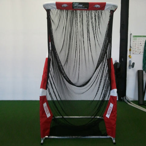 Front View of Arkansas Razorbacks Kicking Net