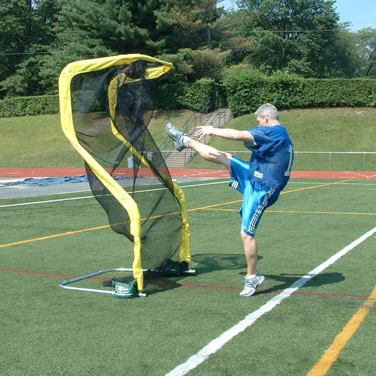 Punting into Yellow Extra Point Kicking Net
