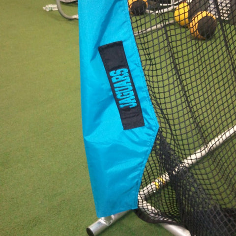 Lower Leg of Jaguars Kicking Net