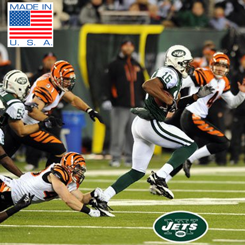 New York Jets with Yellow Extra Point in Background