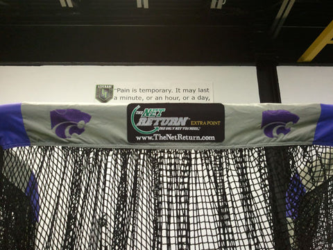 Kansas State Front View of Kicking Net