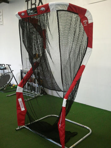 Arkansas Razorbacks Angled View of Kicking Net