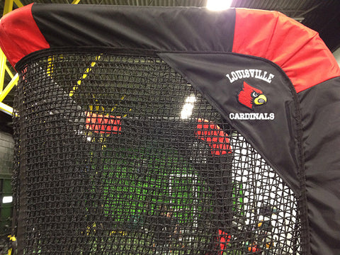 Side Upper View of Louisville Cardinal Kicking Net