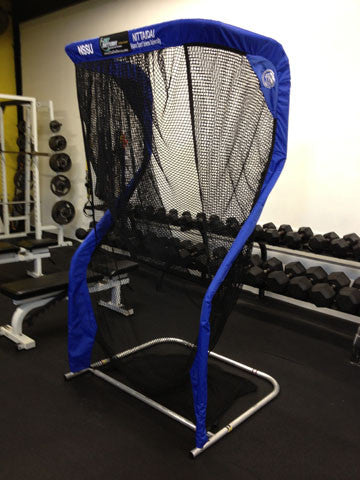 Angled View of Nippon Sport Science Kicking Net