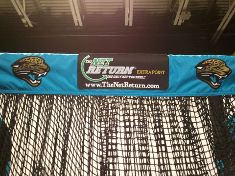 Jacksonville Jaguars Front View of Kicking Net