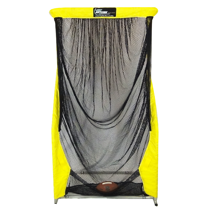 Yellow Extra Point Kicking Net Front View