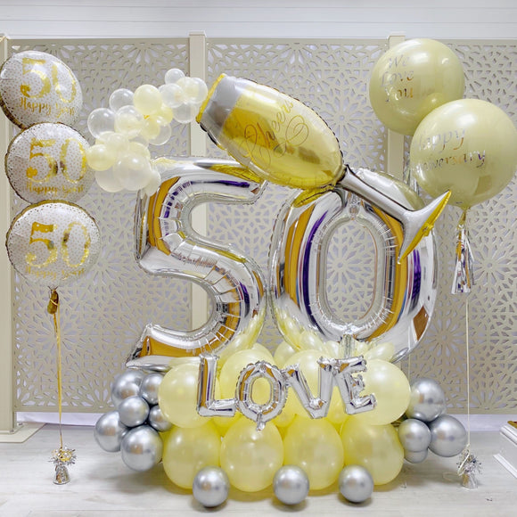 50th Wedding Anniversary Balloons Display