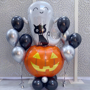 Happy Halloween Pumpkin and Ghost Combo Balloon Bunch