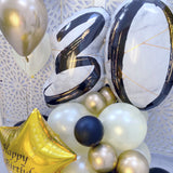 30th Birthday Balloons Display