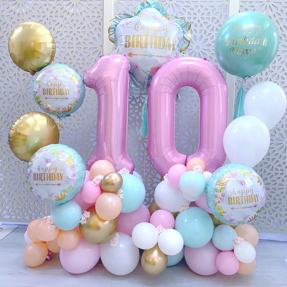 Boho Girl's Balloons Display