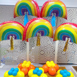 Rainbow Balloons Display