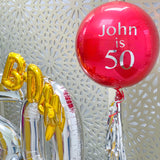 Gold, Silver and Red Balloons Display