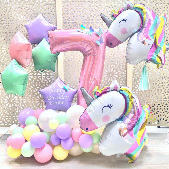 Unicorn Balloons Display