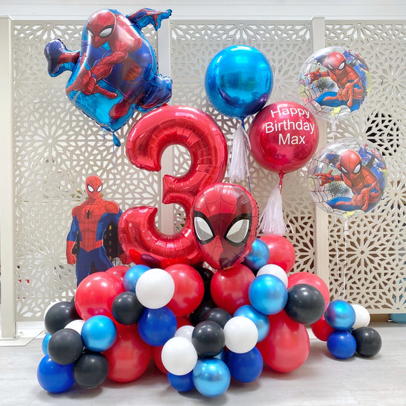 Spiderman Balloons Display
