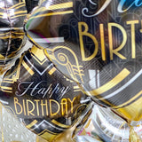 Black and Gold Balloons Display