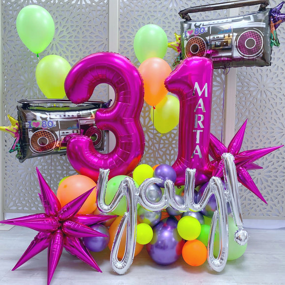 Disco Party Balloons Display