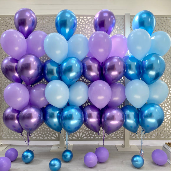 Four Balloons Bunches Display