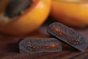 Load image into Gallery viewer, Organic 78% Chocolate Dipped Apricot - Sweetduetchocolate