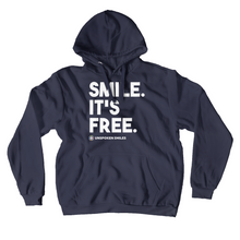 Load image into Gallery viewer, Smile. It's Free Hoodies (No-Zip/Pullover)
