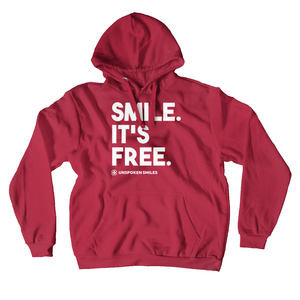 Smile. It's Free Hoodies (No-Zip/Pullover)