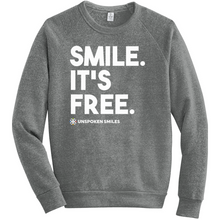 Load image into Gallery viewer, Smile, It's Free Sweatshirts