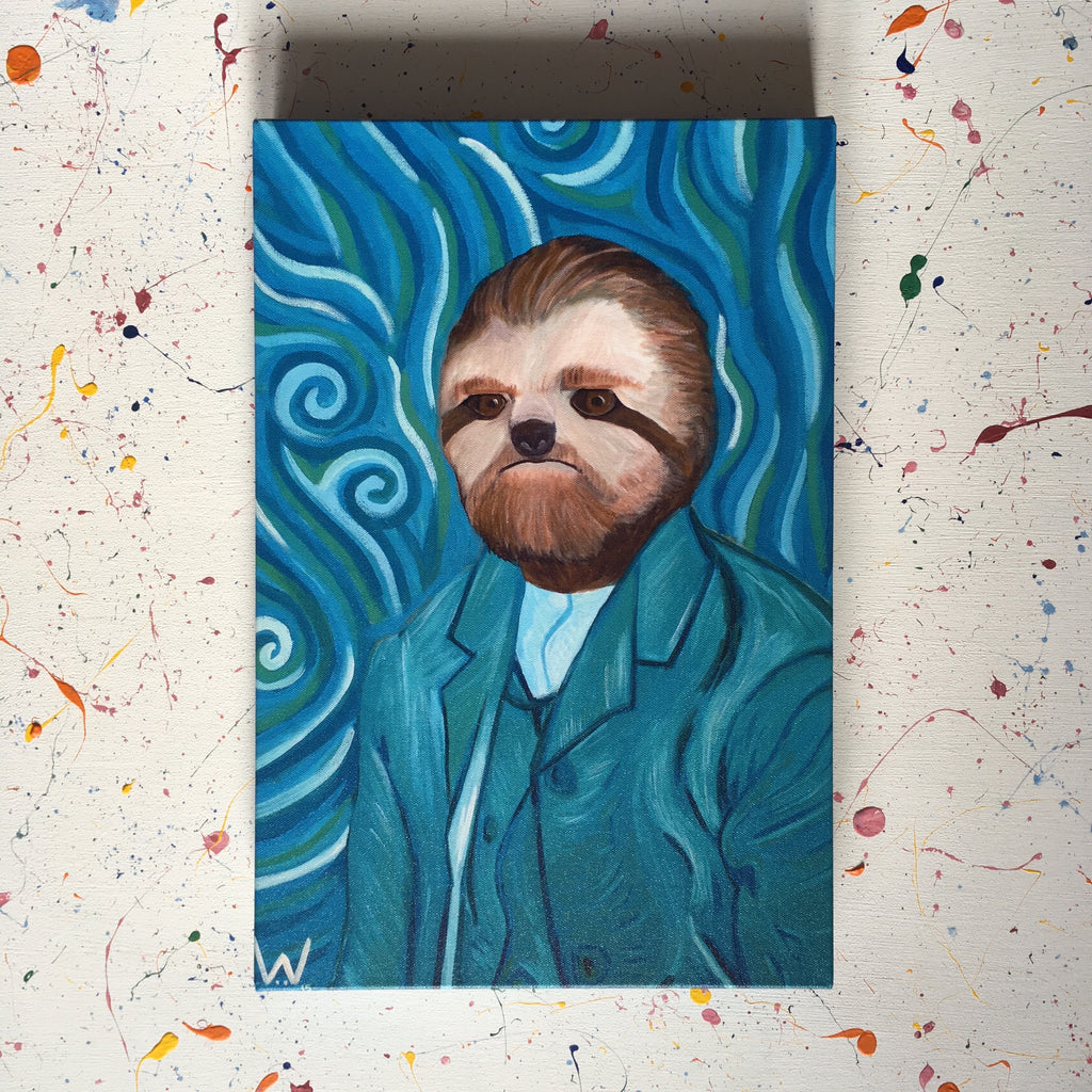 Vincent Van Sloth (Canvas Print)