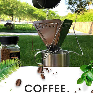 Ultralight Stainless Steel Outdoor Folding Coffee Drip Rack