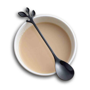 Stainless Steel Leaf Metal Coffee Stirring Spoon