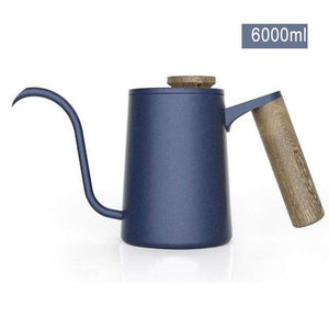 Stainless Steel Gooseneck Drip Coffee Kettle with Wood Handle