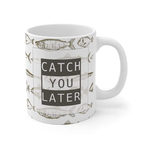 "Wildlife Ocean Fish Ceramic Mug, ""Catch you Later"", 11oz - 15oz"