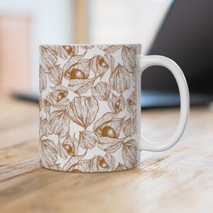 Botanical Seeds Ceramic Coffee Mug, 11oz - 15oz