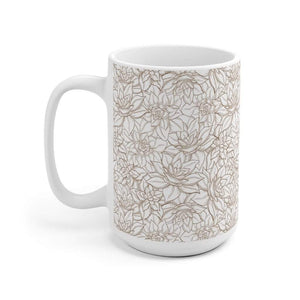 Botanical Succulent Ceramic Coffee Mug, 11oz - 15oz
