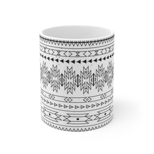 Geometric Tribal Ceramic Coffee Mug, 11oz - 15oz