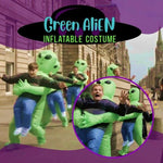 Green Alien Carrying Human Costume for Halloween