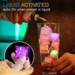 Water-Triggered LED Color Ice Cubes(12pcs)