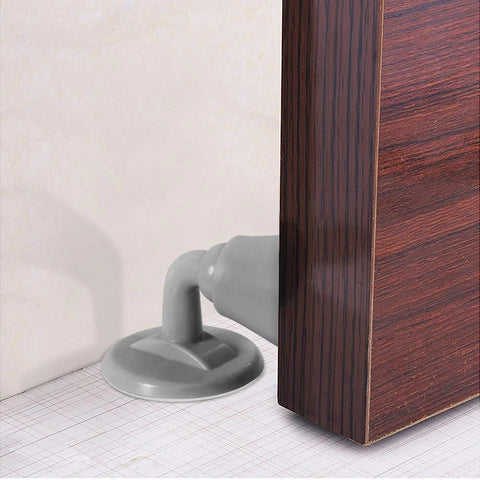 Silicone Door Stoppers-White and Grey