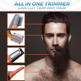MEN ALL-IN-ONE HAIR TRIMMER - EYEBROW EAR NOSE REMOVAL CLIPPER SHAVER UNISEX PERSONAL ELECTRIC FACE TRIMER