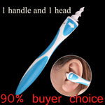 Smart Ear Cleaner - 16 Tips Rotating Ear Cleaner with Soft Silicone Tips Safety Remove the Earwax Tool Simply To Grab And Extract Earwax