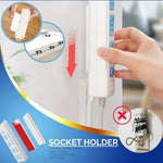 Wall Mounted Adhesive Socket Holder