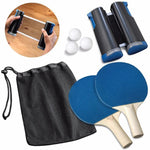 Retractable Table Tennis Set - Ping pong Bats Rackets Paddles Portable 3 Balls for Outdoor Easy Sporting Decoration
