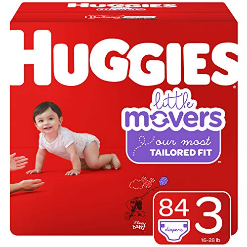 Huggies Little Movers Baby Diapers, Size 3, 84 Ct Soft