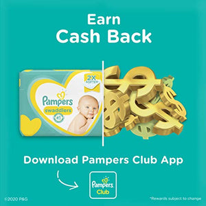Diapers Newborn/Size 1 (8-14 lb), Pampers Swaddlers