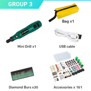 TUNGFULL Cordless Rotary Tool USB Woodworking