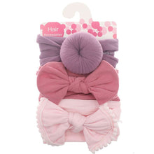 Load image into Gallery viewer, 3pcs/Set New Solid Nylon baby headband Bow For