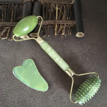 Load image into Gallery viewer, Facial Massage Roller Double Heads Jade Stone Face