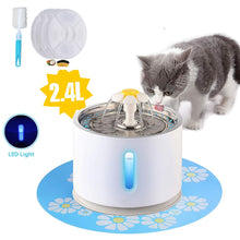 Load image into Gallery viewer, Pet Cat Fountain 2.4L Drinking Window LED Automatic
