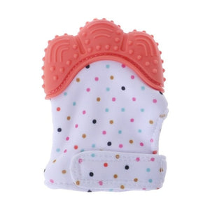 Baby Teether Gloves Squeaky Grind Teeth Oral