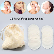 Load image into Gallery viewer, 12Pcs Makeup Remover Pads Reusable Cotton