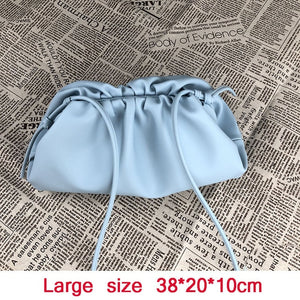 22/38cm Small/Large PU Leather Pouch Handbag