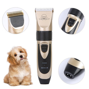 Powerful Electric Dog Hair Trimmer Kit Rechargeable